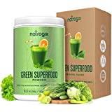Grün Superfood by Natrogix Super Greens Powder - 32 Whole Food Ingredients - Spirulina, Chlorella, Spinach, Barley/Wheat Grass…Probiotics Enzymes for Digestion Health. 8.5 oz 30 Day, Upgraded Taste
