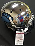 LAWRENCE TAYLOR SIGNED CHROME NORTH CAROLINA TARHEELS HELMET 80 ALL AMERICAN J43