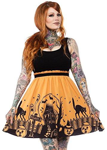 Sourpuss Haunted House Dress XL Black -
