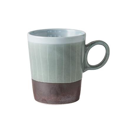 XYEW Taza de cerámica Taza de café Japonesa Color de la Vendimia Líneas a Juego Taza