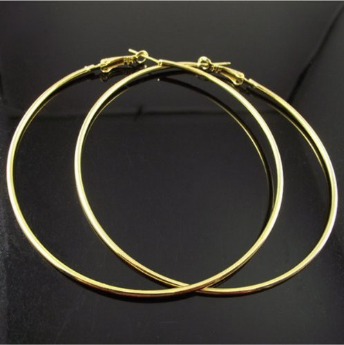 Fashion Large (4-inch) Hoop Earring Pair - Hoops Inch 4 Gold