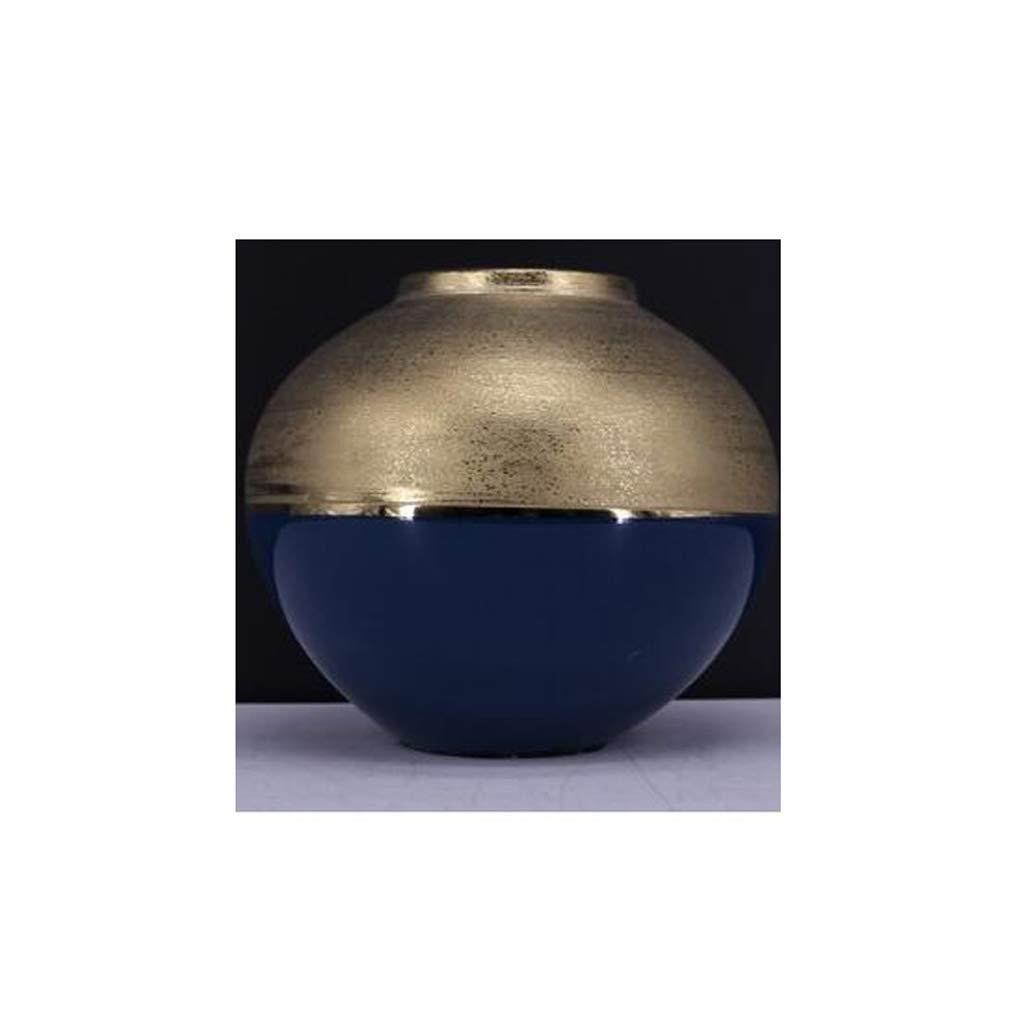 セラミック花瓶リビングルームデスクトップ花瓶装飾ドライフラワー花瓶ブルー QYSZYG (サイズ さいず : 18×7×17cm) B07R3WGRGC  18×7×17cm