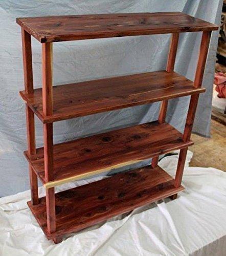 Cedar Bookshelf Living Room Bookcase Kids Storage Unit