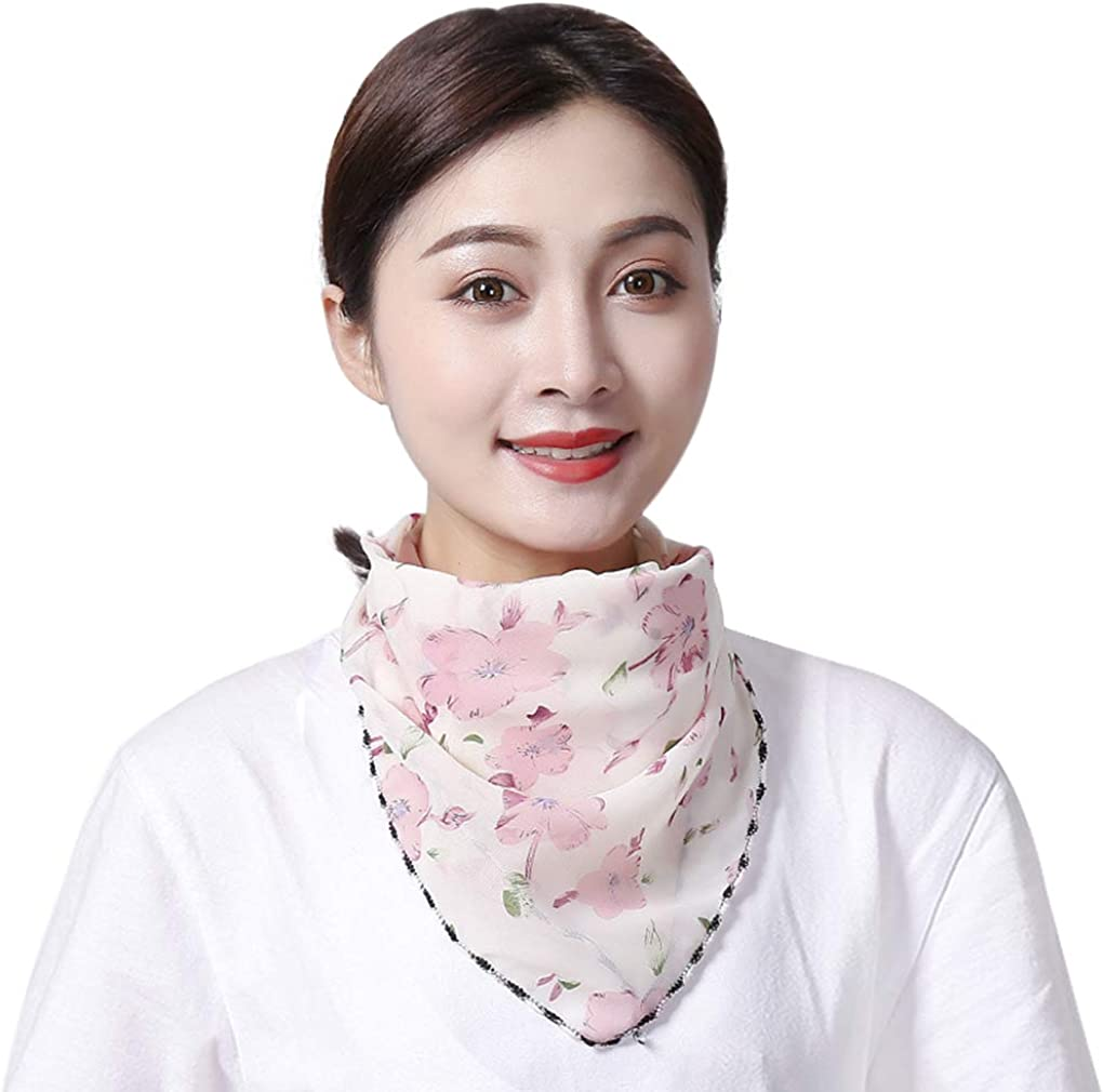 Women Fashion UV Sun Protection Breathable Chiffon Cycling Scarf for Face Neck