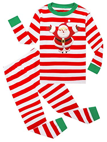 Dutebare Boys Girls Long Sleeve Christmas Pajamas Children