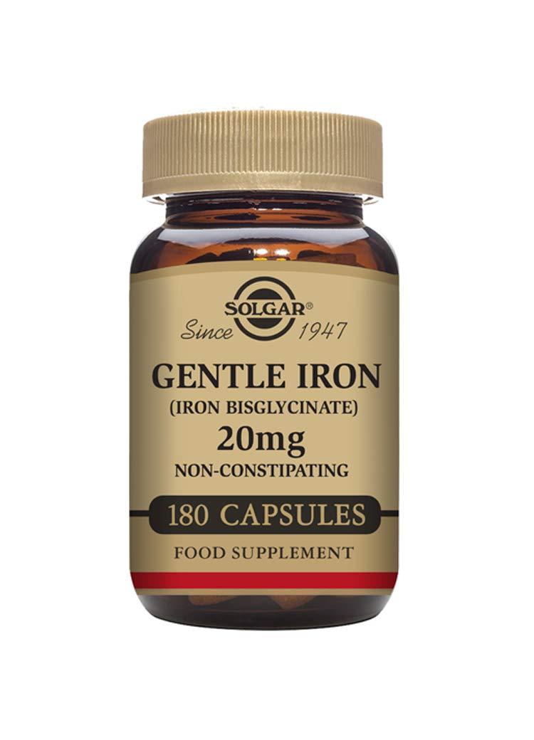 Solgar-Gentle Iron® 20mg: 180 Vegetable Capsules