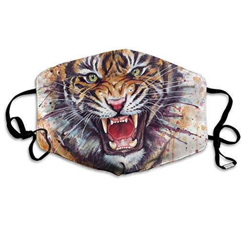 Xiaofz Tiger Pattern Mouth Masks Unisex Anti-Dust Flu Washable Reusable Mouth Mask Fashion Design for Girls Women Boys Men