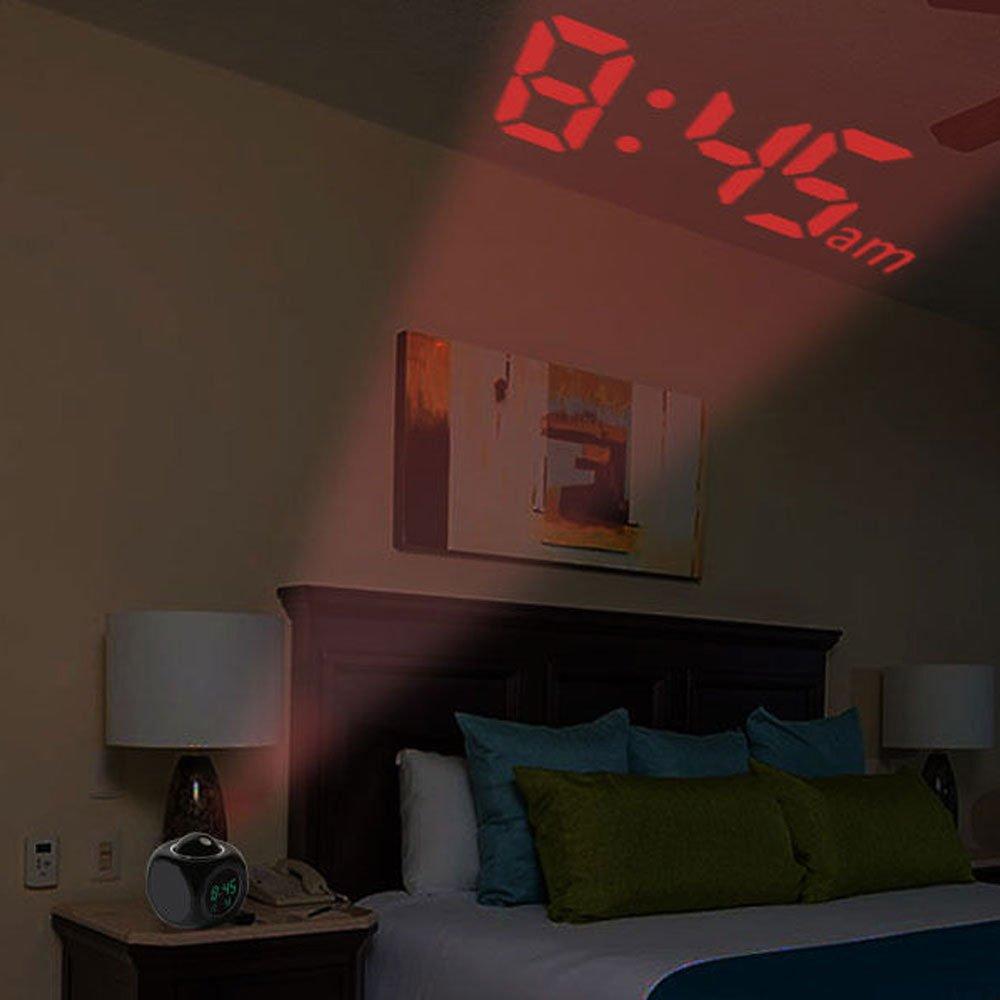 Amazon.com: SolarM Table Desk Alarm Clock Multi-Function Digital LCD Voice Talking LED Relojes Despertadores: Home & Kitchen