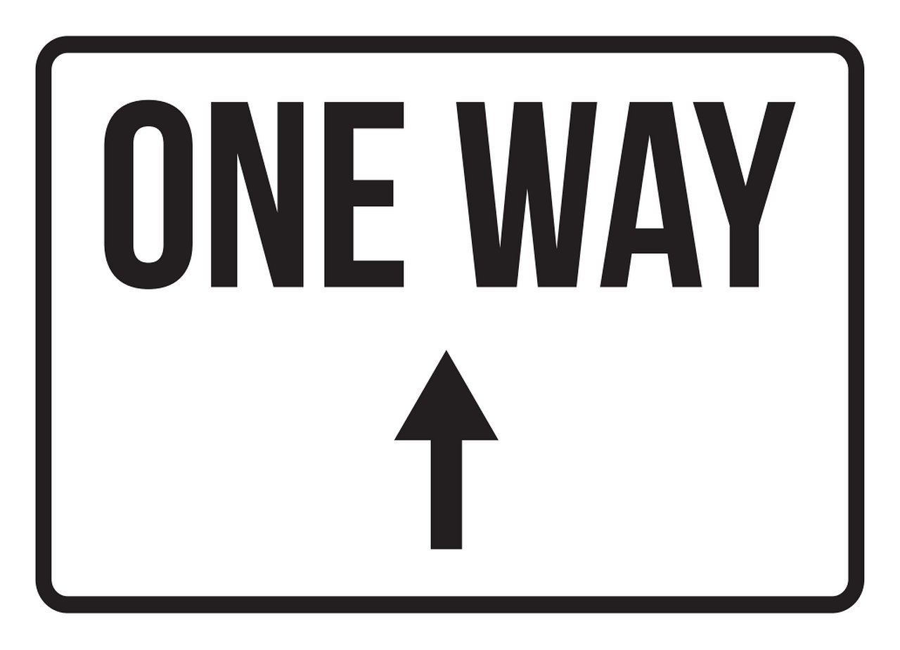 iCandy Products Inc One Way Up Arrow No Parking Business Safety Traffic Signs Black - 7.5x10.5 - Metal
