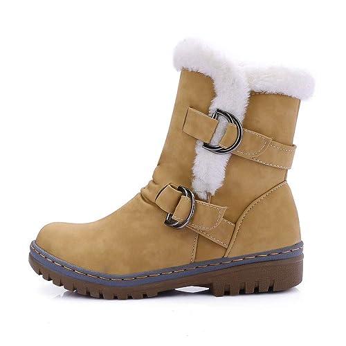 362e0637403 Zapatos De Mujer,RETUROM Botas De Mujer Botines Mujer Invierno OtoñO Negro  Plano Pierna Alta Ante Casual Largo Alto Botas De Color SóLido Plana Martin  Altas ...