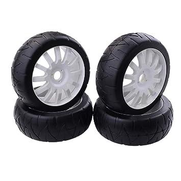 FLAMEER RC Neumáticos de Rueda Recambio de Accesorios para 1:8 RC Coche Buggy Rock Crawler: Amazon.es: Juguetes y juegos