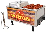 Benchmark USA 51072W Chicken Wings Warmer, Stainless Steel, Brown/Orange