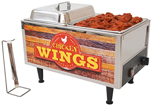 Benchmark USA 51072W Chicken Wings Warmer, Stainless Steel, Brown/Orange by Benchmark USA