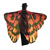 Ikevan Hot Selling Newset Women Girl Soft Fabric Butterfly Wings Shawl Scarf Fairy Ladies Nymph Pixie Costume Accessory 145x65cm (Coffee)