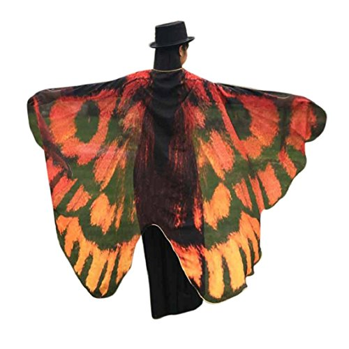 Ikevan Hot Selling Newset Women Girl Soft Fabric Butterfly Wings Shawl Scarf Fairy Ladies Nymph Pixie Costume Accessory 145x65cm (Pink Nymph Fairy Costume)