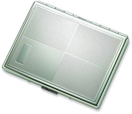 Aeropen International S-20S Single Sided Silver Cigarette Case with Square Design (Sided Single Cigarette Case)
