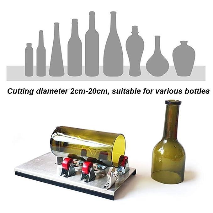 ZYHJAMA Máquina de Corte de Botellas de Vidrio, Kit de Herramientas de Corte de precisión para Todo Tipo de Botellas versión de actualización 5 Rollos de ...
