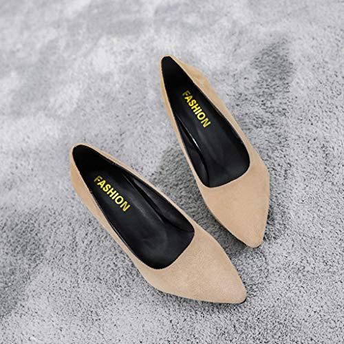 Da Elegante Donna Fashion Con Casual Sandali Lianmengmvp Col Metà Eleganti E Tacco Scarpe Cachi Sposa 7CnwqxFg