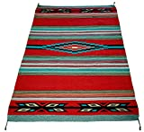 El Paso Designs Beautiful Hand-Woven Serape Area Rugs Featuring Feather Hawkeye Pattern. Three Sizes to Choose From. (HA4X6FEATHER4)