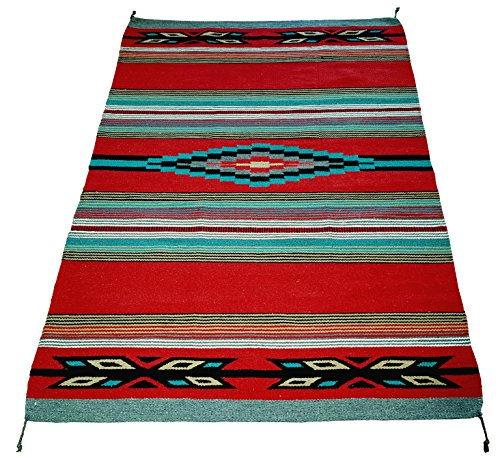 El Paso Designs Beautiful Hand-Woven Serape Area Rugs Featuring Feather Hawkeye Pattern. Three Sizes to Choose From. (HA4X6FEATHER4) by El Paso Designs