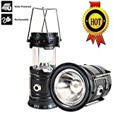 3-in-1 Rechargeable Solar Ultra Bright Led Camping Lantern & Portable Outdoor Survival Lamp for Fishing ,Emergency,Hurricanes,Hiking,Hunting,Storm