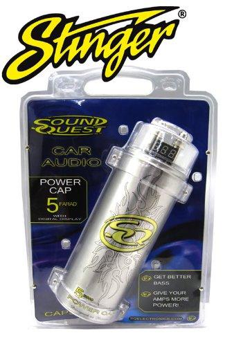 CAP5M - Stinger Sound Quest 5 Farad Capacitor - Stinger Surge