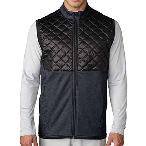 Adidas Golf Men's CLIMAHEAT? Prime Quilted Full Zip Vest ...