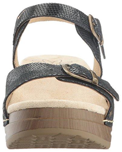 Sanita Kvinders Davia Platform Sandal Sort Slange wIzb6b