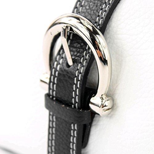 T05 sac messager besace Sac sac à italien Schwarz cuir main véritable Weiß wqIwXpz