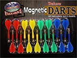 Deluxe 16 Piece Magnetic Replacement Darts with Plastic Wings in Red, Blue, Green & Yellow - ''Matty's Toy Stop'' Exclusive