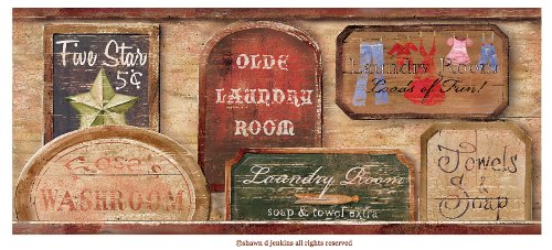 brewster-418b80974-wash-room-brown-vintage-laundry-signs-border-brown