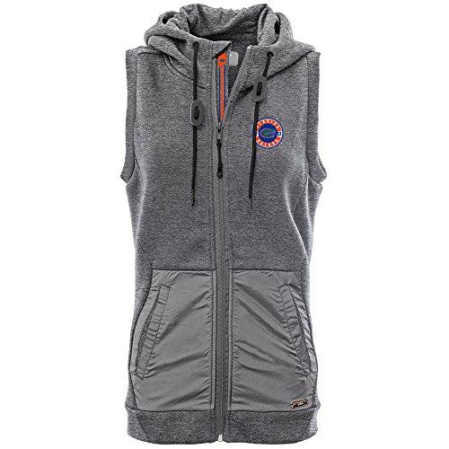 Levelwear LEY9R NCAA Florida Gators Women's Iris Banner Stripe Full Zip Hooded Vest, X-Large, Heather Pebble ()