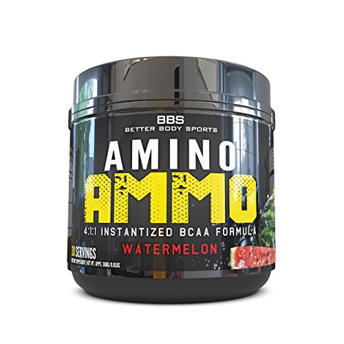Amino-Ammo-Branch-Chain-Amino-Acid-Recovery-Supplement-Powder-BCAA-In-A-Great-Tasting-Watermelon-Flavor-Contains-411-Ratio-of-Leucine-Isoleucine-Valine-Trusted-by-Fitness-Experts