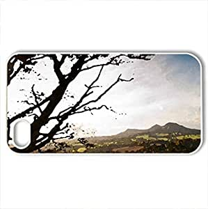 beautiful landscape - Case Cover for iPhone 4 and 4s (Sky Series, Watercolor style, White)