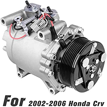 AUTOSAVER88 38810-PNB-006 A/C Compressor & Clutch for 2002-2006 Honda CR-V (Sport Utility 4-Door Models with 2.4L l4 Gas DOHC Engine)