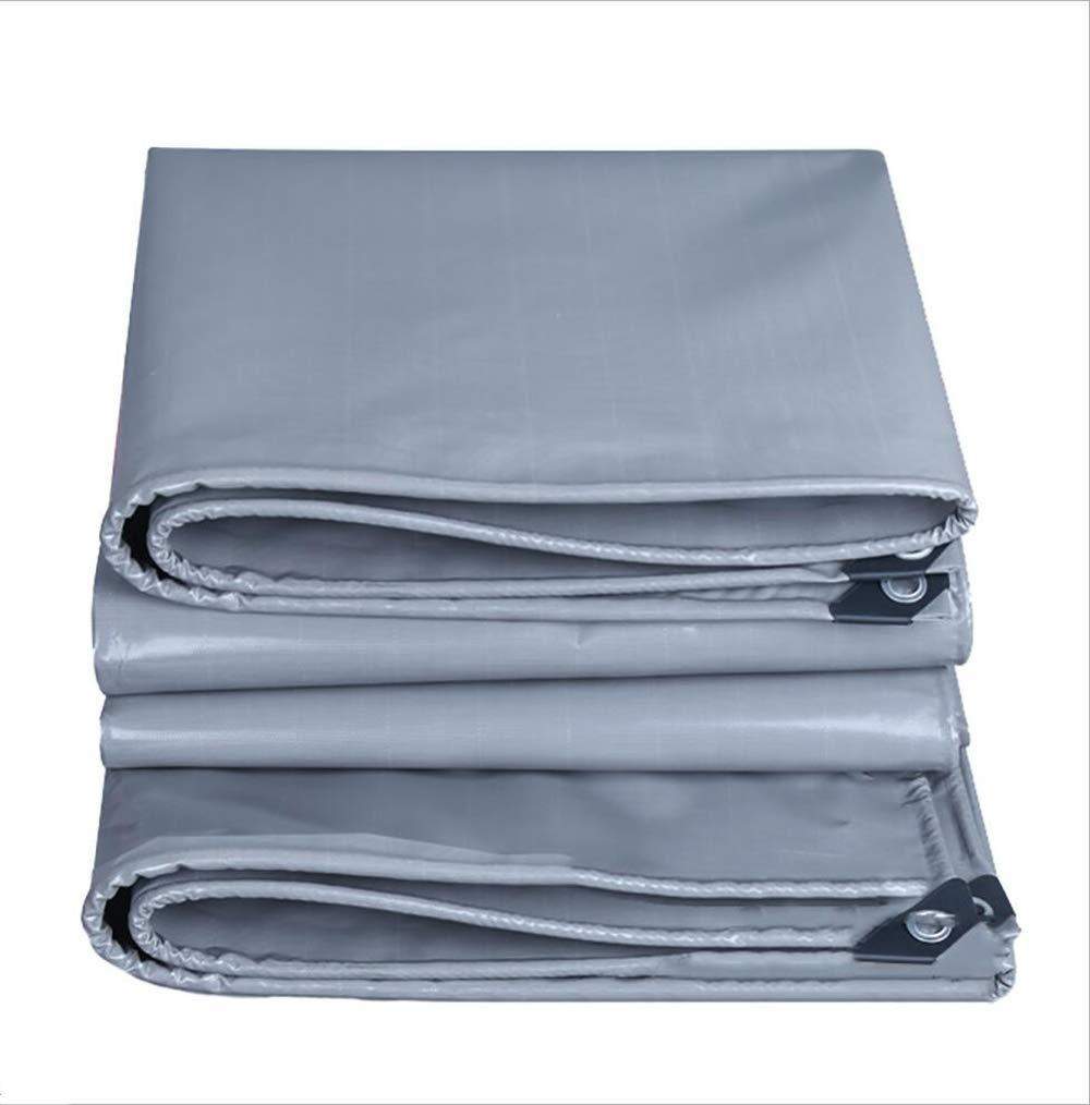 TARPAULIN Plane Wasserdichtes Tuch, graue regendichte Tuch-Bodenblatt-Abdeckungen für Outdoor-Abdeckung Bauernhof   kampierendes Lager-Segeltuch 550G   M2 (größe   3M×5M)