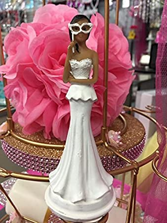 ethnic figurine doll for bridal showers or sweet 16 or mis quince masquerade cake top topper