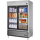 True Mfg TSD-47G-HC-LD, 2 Door Glass Slide Door Refrigerator