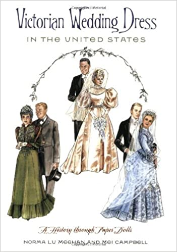 Victorian Wedding Dresses, Shoes, Accessories Book Victorian Wedding Dress in the United States: A History through Paper Dolls  AT vintagedancer.com