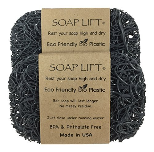 Soap Lift Soap Dish, Two Pack - Gray