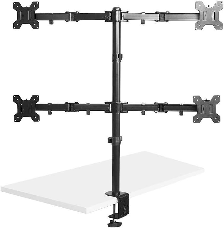 rotation et pivot Max Inclinaison /à langer pour b/éb/é dalimentation double moniteur /écran Bras de montage double support VESA pour Twin 33/cm /à 76,2/cm /écran dordinateur ou TV