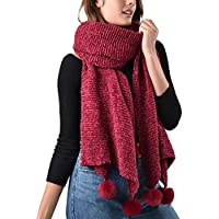 FURTALK Chenille Women Winter Scarf Oversize Soft Scarves Shawls For Girls
