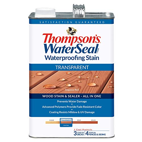 Seal Stain - THOMPSONS WATERSEAL TH.041831-16 Transparent Waterproofing Stain, Sequoia Red