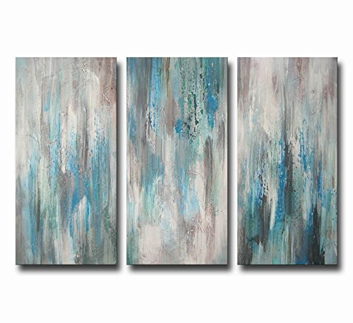 Hand-painted 'Sea of Clarity' 3-piece Gallery-wrapped Canvas Art Set by ARTLAND