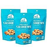 Mavuno Harvest Organic Direct Trade Premium Whole Cashews, Dry Roasted, 4 Oz, 3 Count