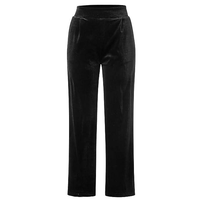 Kinlene Pantalones de Mujer de Invierno Sueltos Ocasionales ...