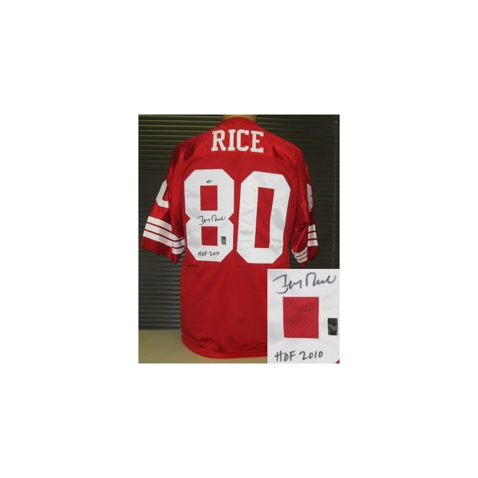 Jerry Rice Autographed/Hand Signed Throwback 49ers Jersey