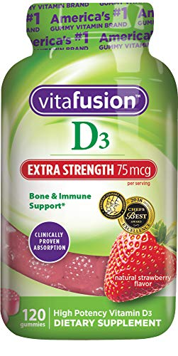 Vitafusion Extra Strength Vitamin D3 Gummy Vitamins, 120 - For Vitamin Adults Gummies D