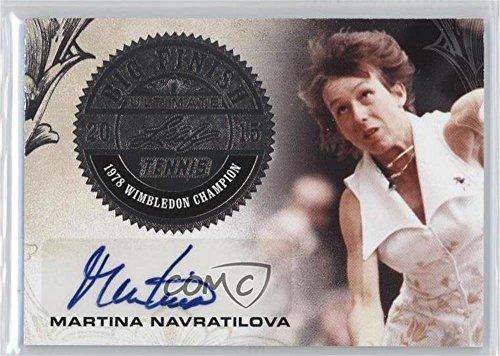 Martina Navratilova #17/25 (Trading Card) 2015 Leaf Ultimate Tennis - Big Finish - Silver Etched Foil #BF-MN1