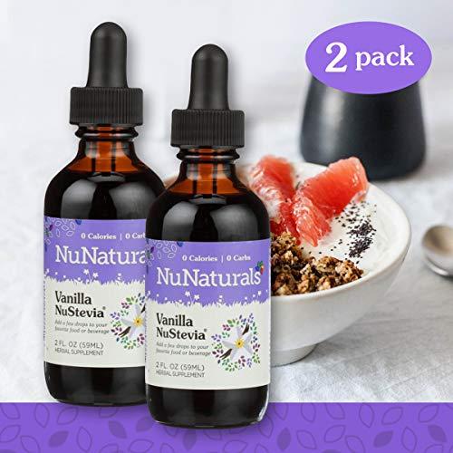(NuNaturals NuStevia Liquid Vanilla Stevia, Natural Liquid Sweetener, Sugar-Free (2 Pack, 2 oz))
